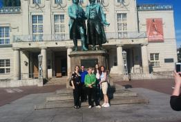 La prof. Agazzi e le studentesse di LLEP a Weimar (2018)